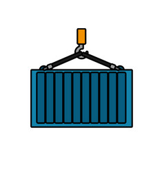 Isolated container design vector