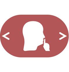 Keep quiet sign vector