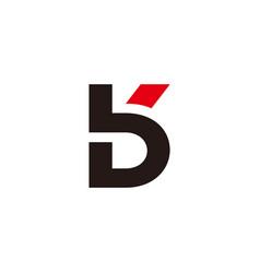 Letter bk linked geometric simple flat line logo vector