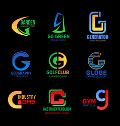 Letter g abstract modern business company design vector