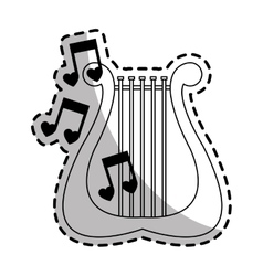 Lyre instrument icon vector