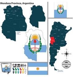 Map of mendoza province argentina vector