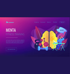 Mind fitness concept landing page vector