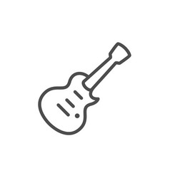 musical instrument electric guitar line icon vector image