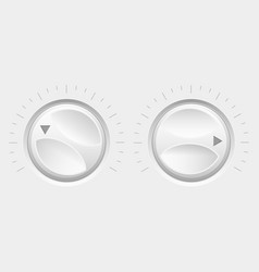 navigation round knob buttons volume control vector image