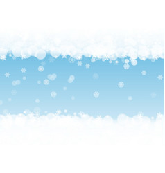 New year background with white frosty snowflakes vector