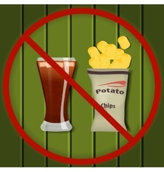 No fast food vector