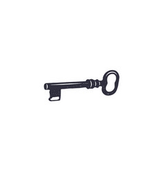 old key icon silhouette design black pictogram vector image