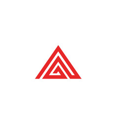pyramid logo and symbol business abstract design vector image