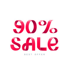 sale 90 percent off vector image