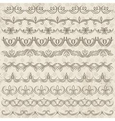 Set lace paper border frame vector