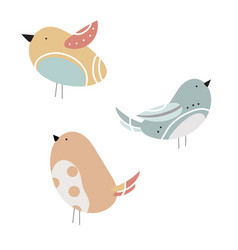set stylized birds a collection of vector image