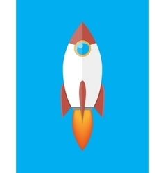 Space rocket isolated on blue vector