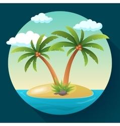Summer vacation holiday tropical ocean island vector