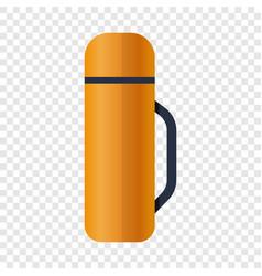 Tea thermos icon cartoon style vector