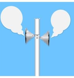 Two loudspeakers vector