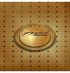 Vintage menu cover gold 3 vector image