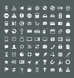 Web application icons collection vector image