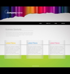 Website template with stripes vector