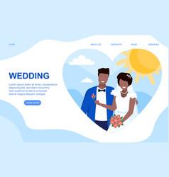 Wedding concept vector