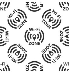 wi-fi network icon seamless pattern vector image