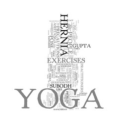 yoga hernia and madonna text word cloud concept vector image