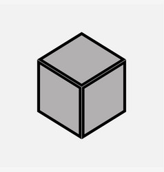 nintendo cube icon gray vector image vector image