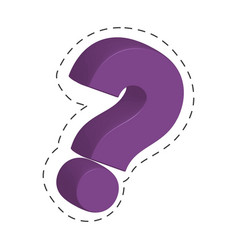 purple question mark image vector image