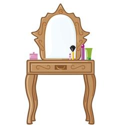 bedroom mirror vector image vector image