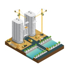 Construction isometric composition vector