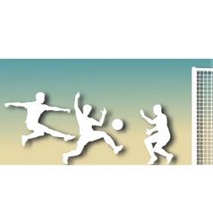 goalmouth cutout vector image vector image