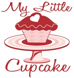 My Little Cupcake vector image vector image