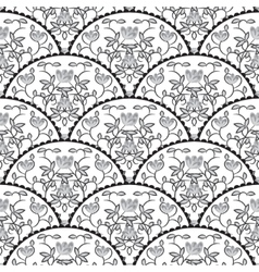 Stylized fish scale japan seamless pattern Flower vector image vector image