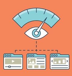 Web analytics information development website vector image vector image