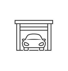 car on garage icon vector image
