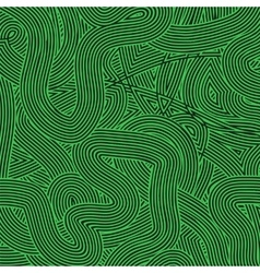 Green Wave Line Pattern vector image