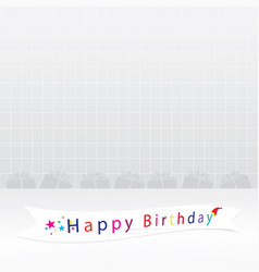 happy birthday card backgrounds vector image vector image