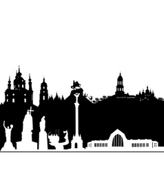Kiev silhouette on a white background vector image vector image