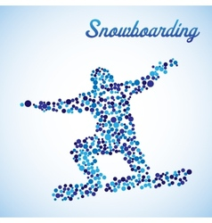 Abstract snowboarder in jump vector image vector image