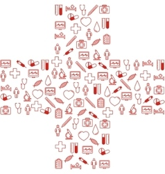 First aid medical icons set vector image vector image