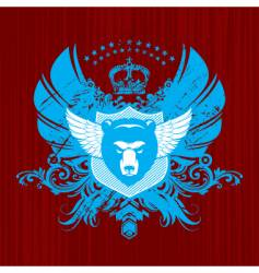 heraldry with bear head vector image vector image