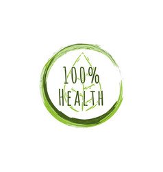 100 healthy logo designs inspiration isolated on vector image