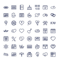 49 day icons vector