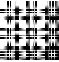 abstract check pixel plaid seamless pattern black vector image