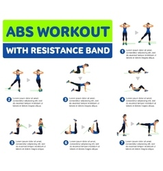 Aerobic icons Abs workout vector