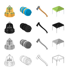 backpack pockets tools and other web icon in vector image vector image