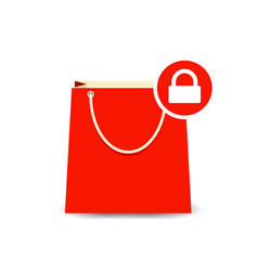 bag buy lock paper shopping icon vector image