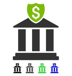bank flat icon vector image vector image