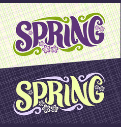 banners for spring season vector image