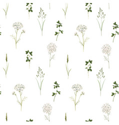 Beautiful floral summer seamless pattern vector